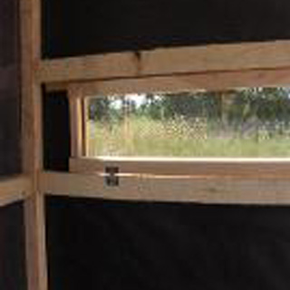 Deer hunting ground box blinds for sale productive for Building deer blind windows
