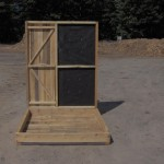 Cedar Bow & Rifle Deer Blind Door Wall