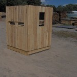 Cedar Bow & Rifle Deer Blind Front Wall