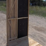 Cedar Hinged Window Deer Blind Door Wall