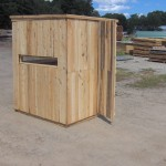 Cedar Hinged Window Deer Blind Roof