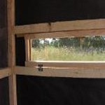 Cedar Hinged Window Deer Blind - Inside Blind