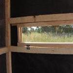 Cedar Hinged Window Deer Blind - Inside Blind