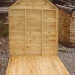 Cedar Wood Playhouse Back Wall