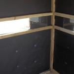 Cedar Rustic Inside Deer Blind Wall