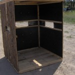 Cedar Rustic Inside Deer Blind