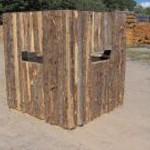 Cedar Rustic Deer Blind Front Wall