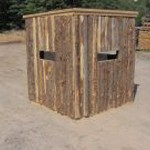 Cedar Rustic Deer Blind Roof